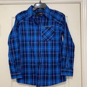 Hurley boys long sleeve plaid shirt size medium
